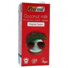 Bebida coco con chocolate