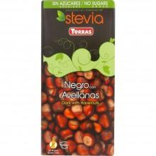 Chocolate negro con avellanas stevia