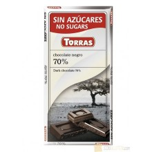 Chocolate negro 70% cacao sin azucar