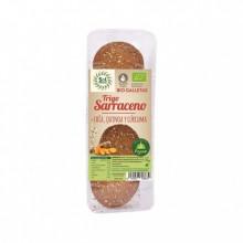 Galletas trigo sarraceno con chía, quinoa y cúrcuma