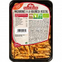 Macarrones a la Boloñesa Vegetal