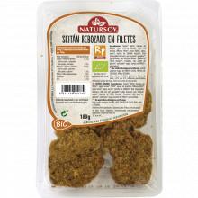 Seitán rebozado en filetes