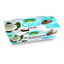 Postre chocolate con coco