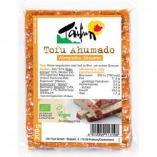 tofu ahumado almendra y sésamo