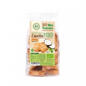 Mini tostadas espelta y coco