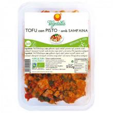 Tofu con pisto