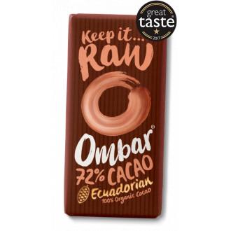 Chocolatina Cacao Negro 72% Ombar