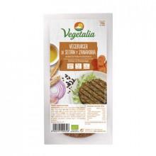 Familar Vegeburguer Seitán y Zanahoria Vegetalia