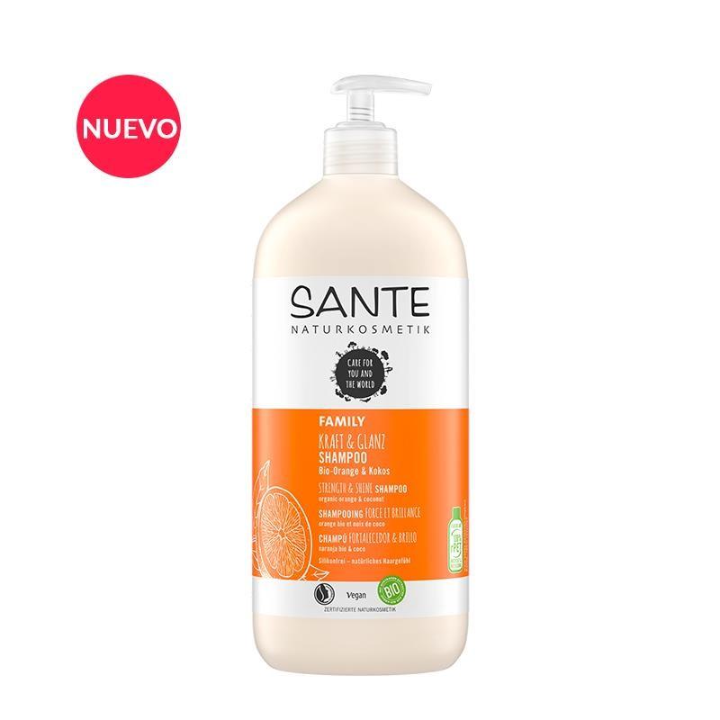 Champú Fortalecedor & Brillo Naranja y Coco 950ml Sante