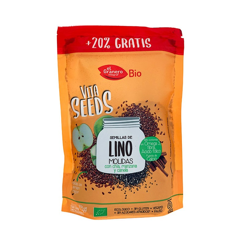Semillas Lino, Chia, Manzana y Canela Bio 200g Vita Seeds