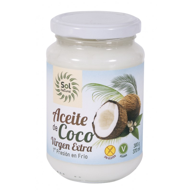 Aceite Coco Virgen Extra 370mL Sol Natural