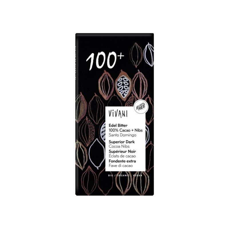 Chocolate Negra 100% Santo Domingo 80g Vivani