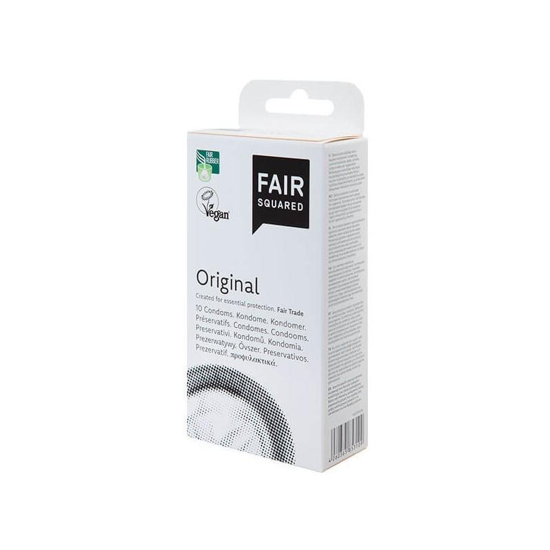 Preservativo Original Vegano 10u Fair Squared