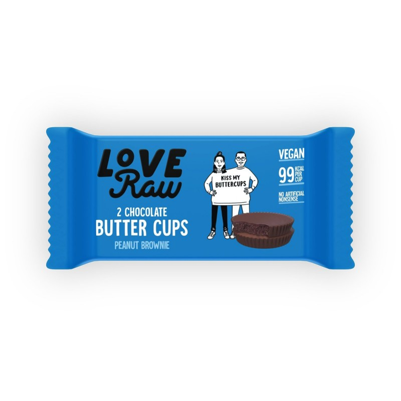 Butter Cups Brownie de Cacahuete Love Raw
