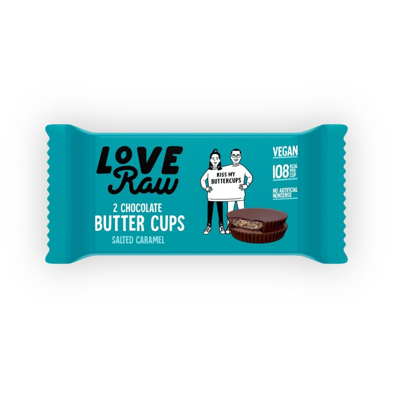 Butter Cups Chocolate Caramelo Salado Love Raw