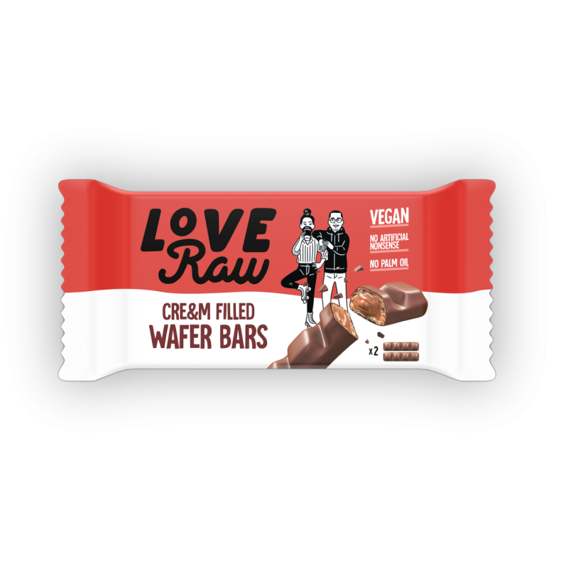 Wafer Chocolate Relleno de Crema de Avellanas Love Raw