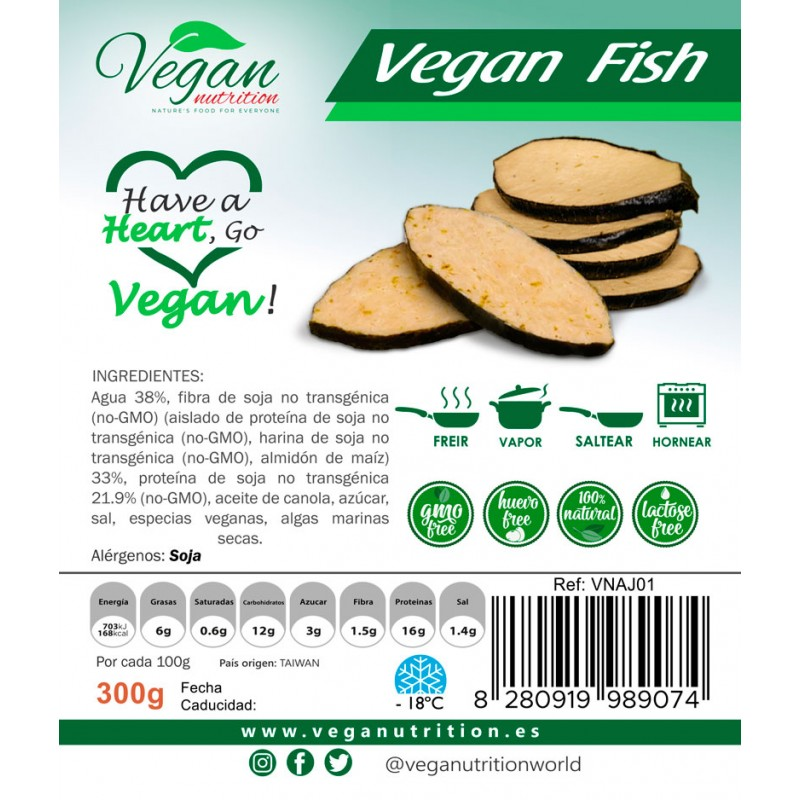 Rodajas Vegetales Estilo Pescado 300g Vegan Nutrition