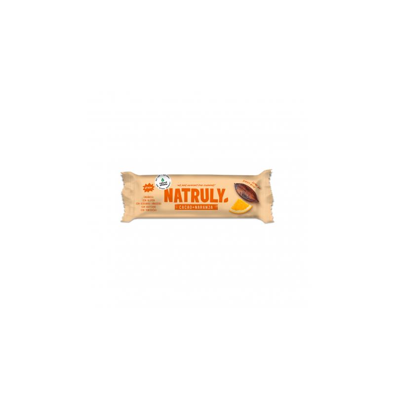 Barrita Cacao y Naranja 40g Natruly