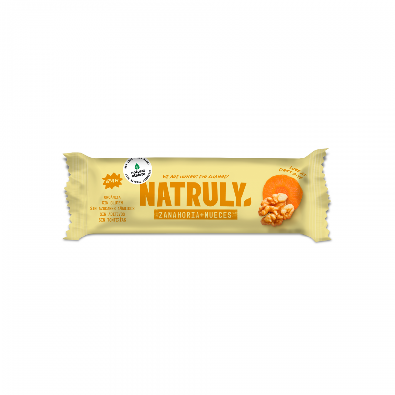 Barrita Zanahoria y Nueces 40g Natruly
