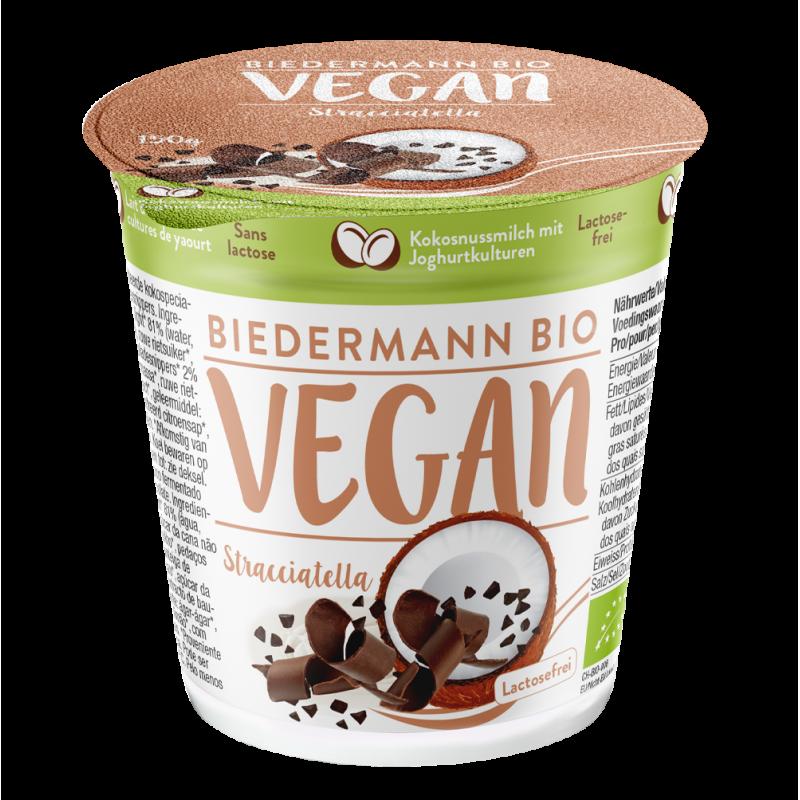Yogurt Fermentado de Coco y Stracciatella 375g Biedermann