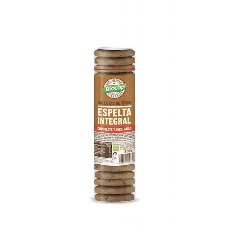 Galletas Espelta con Chocolate y Avellanas 250g Biocop
