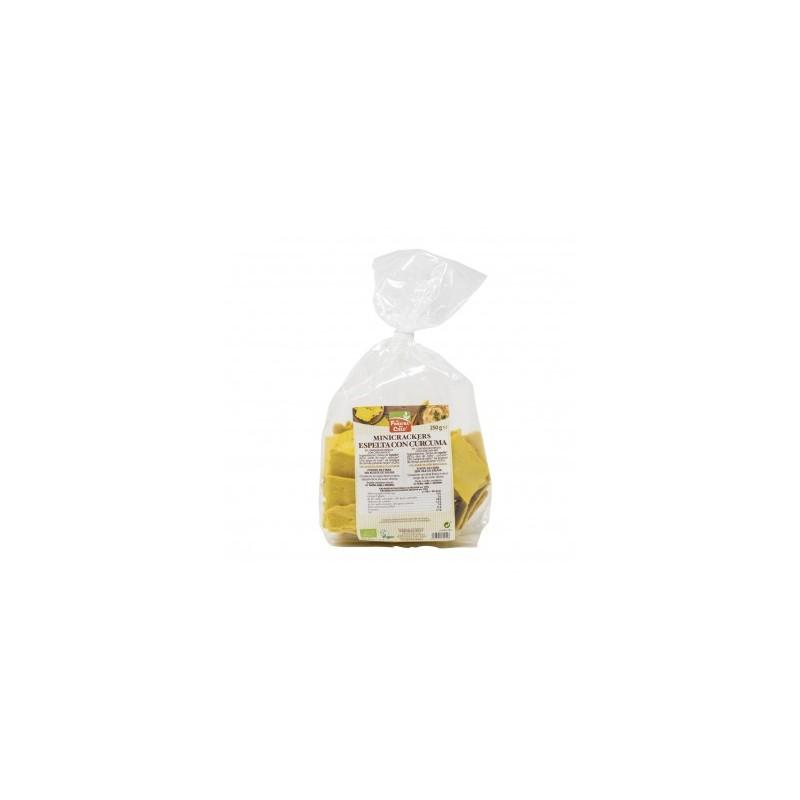 Mini Crackers Espelta con Cúrcuma y Pimienta 250g La Finestra Sul Cielo