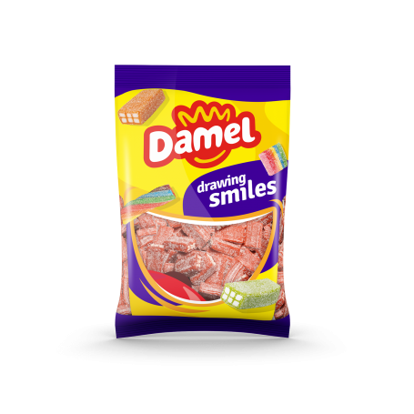 Golosinas Ladrillos Fresa Vegana 1Kg Damel