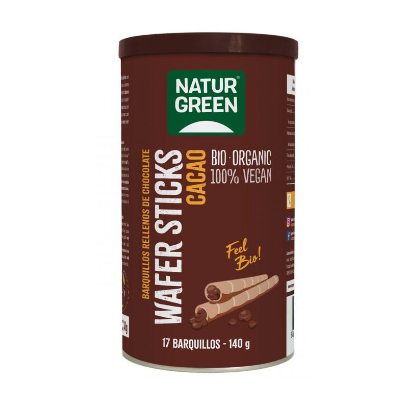 Rollitos Crujientes Rellenos de Chocolate Bio NaturGreen